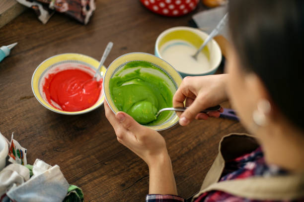 Food coloring stock photo