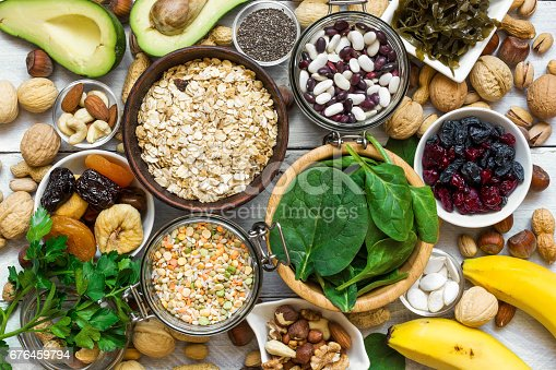 istock Food containing magnesium and potassium 676459794