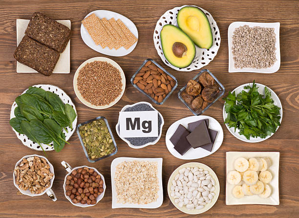 food containing magnesium - magnesium stock photos and pictures
