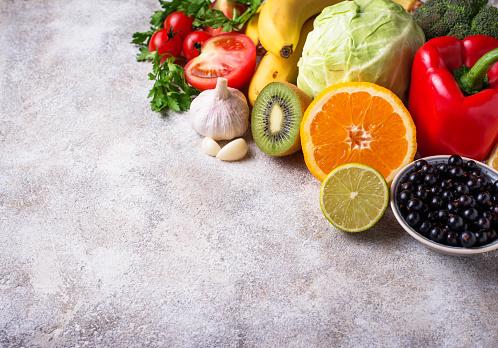 Food Containing Vitamin C Healthy Eating - zdjęcia stockowe i więcej obrazów Banan