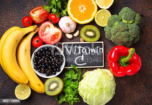 istock Food containing vitamin C. Healthy eating 993119894