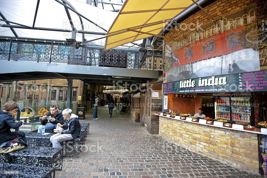 Food Court at Camden Town, London stock photo