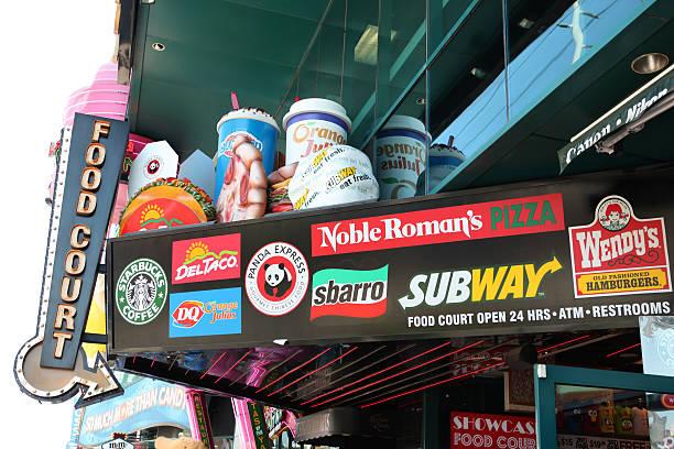 ristorazione a las vegas - subway foto e immagini stock