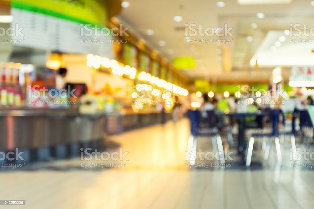 Food Court Blurred stock photo