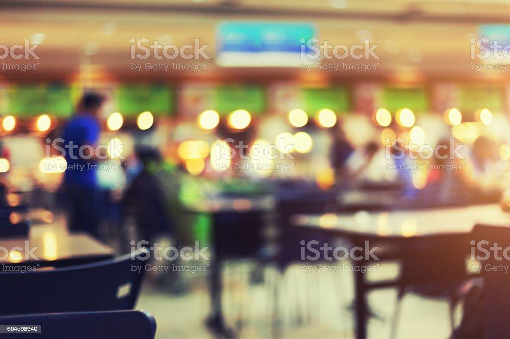 Food Court Blurred stock photo