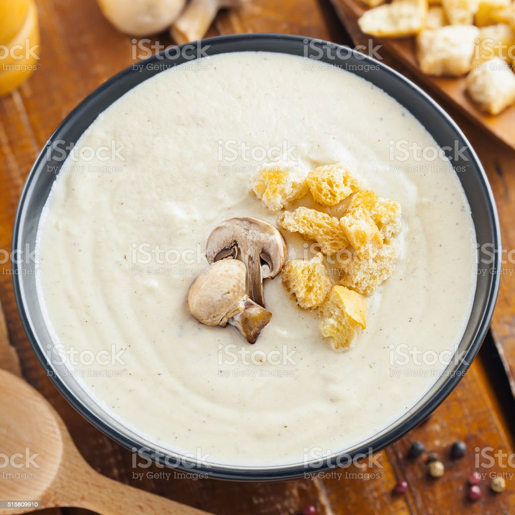Food, cream soup stock photo