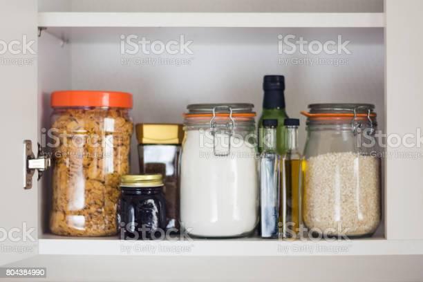 Food cupboard pantry with jars picture id804384990?b=1&k=6&m=804384990&s=612x612&h=bl1kko50cujrsik rvppe0tujqtlp6b8hpsdpyg1z7w=