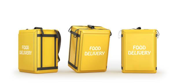 food delivery bag, 3d illustration stock photo