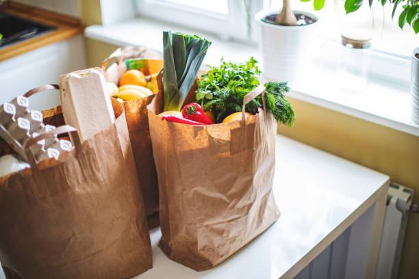 Lebensmittellieferung während der Quarantäne – Foto
