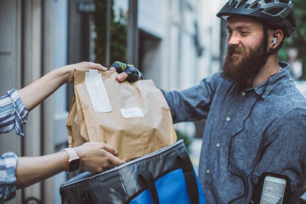 食品配送 - food delivery 個照片及圖片檔