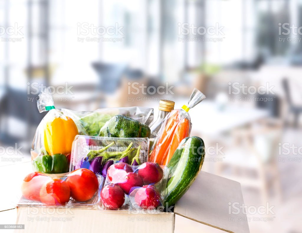 Vegetable delivery at home online order for cooking and packages box...