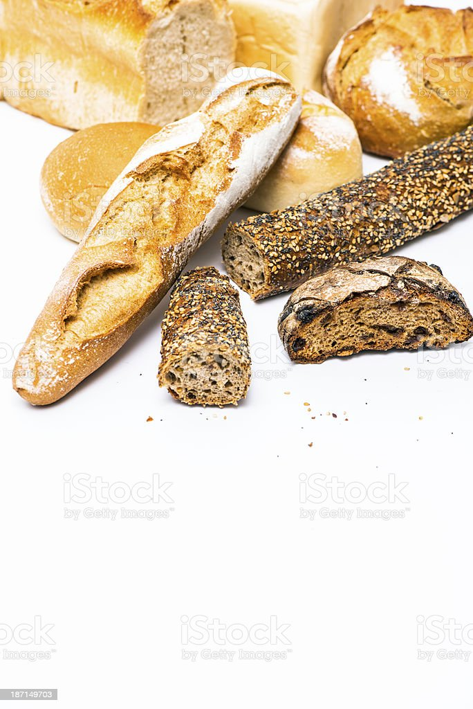 Food: different kinds of bread royalty-free stock photo