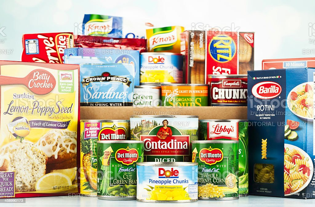 Food Drive Collection stock photo