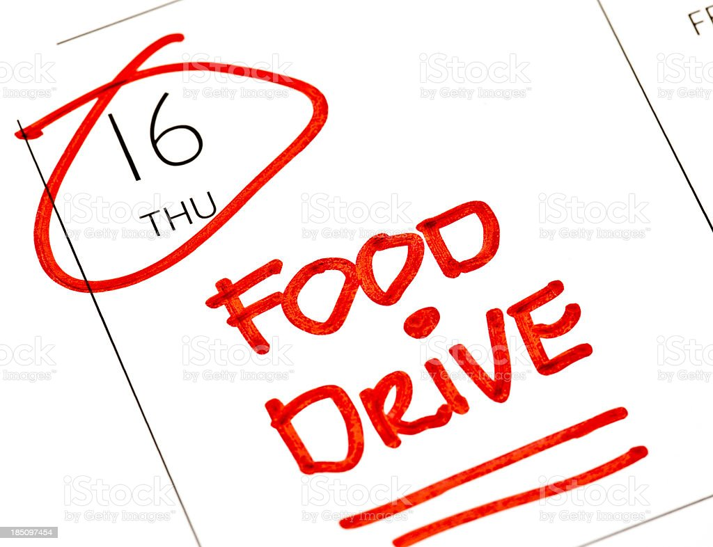Food Drive royalty-free stock photo