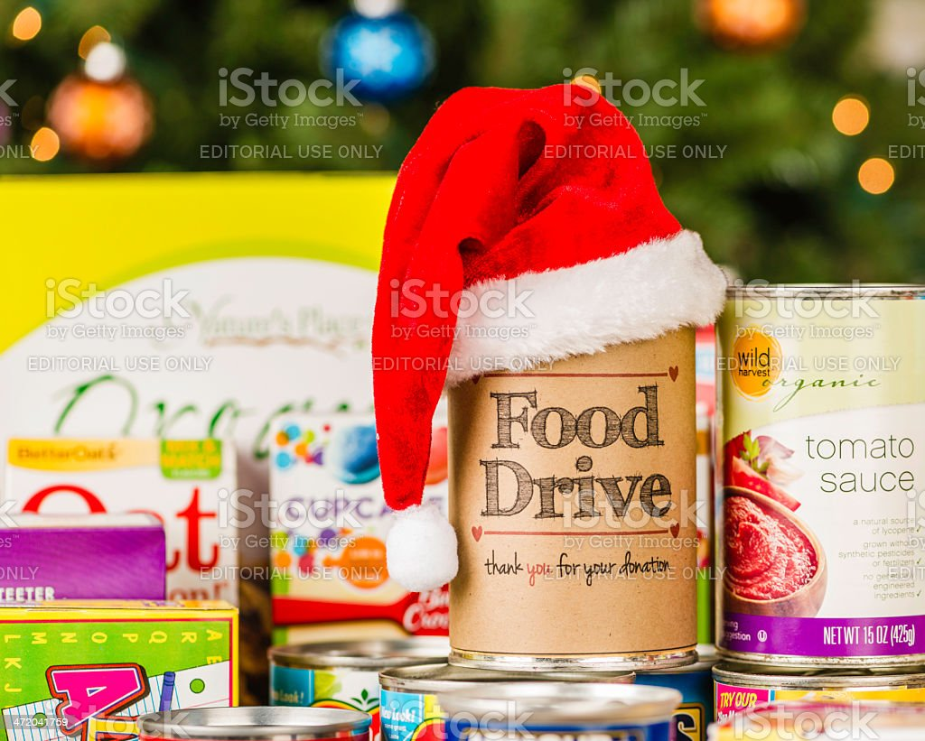 Food Drive Promotion stock photo