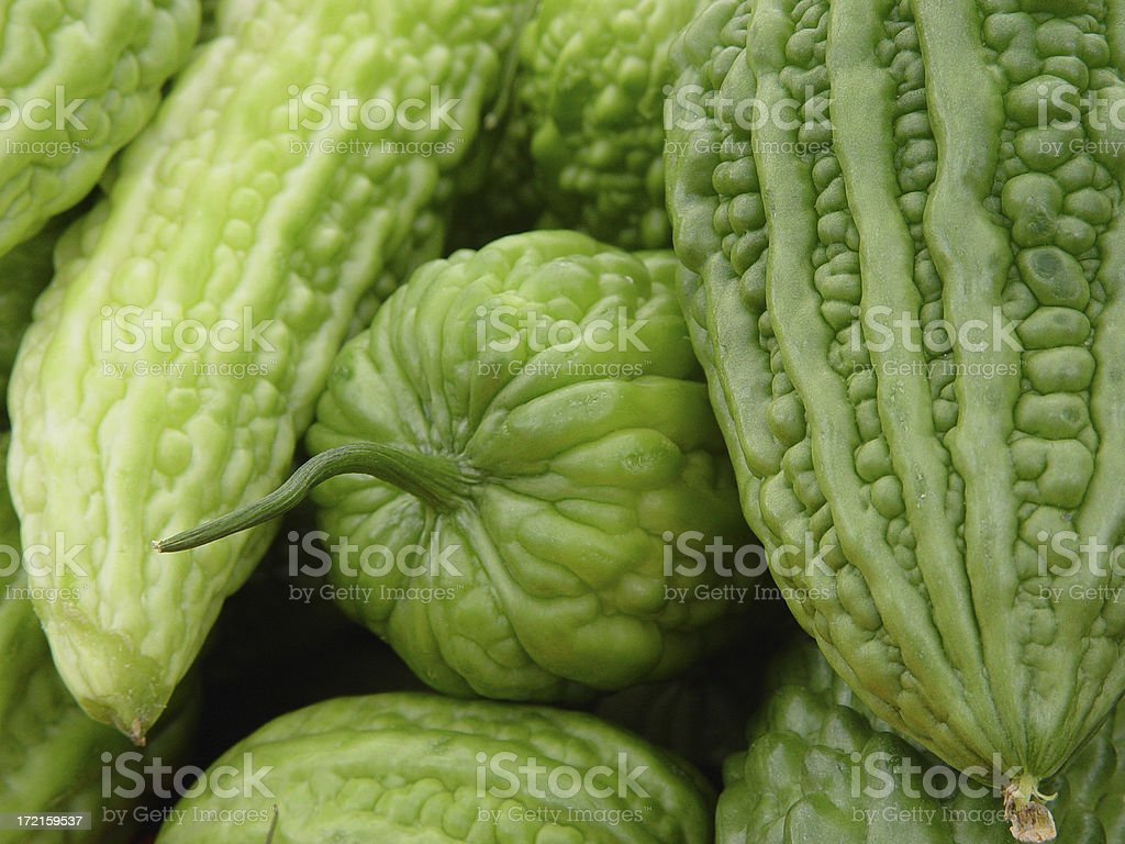 Food: Exotic Bitter Melon stock photo