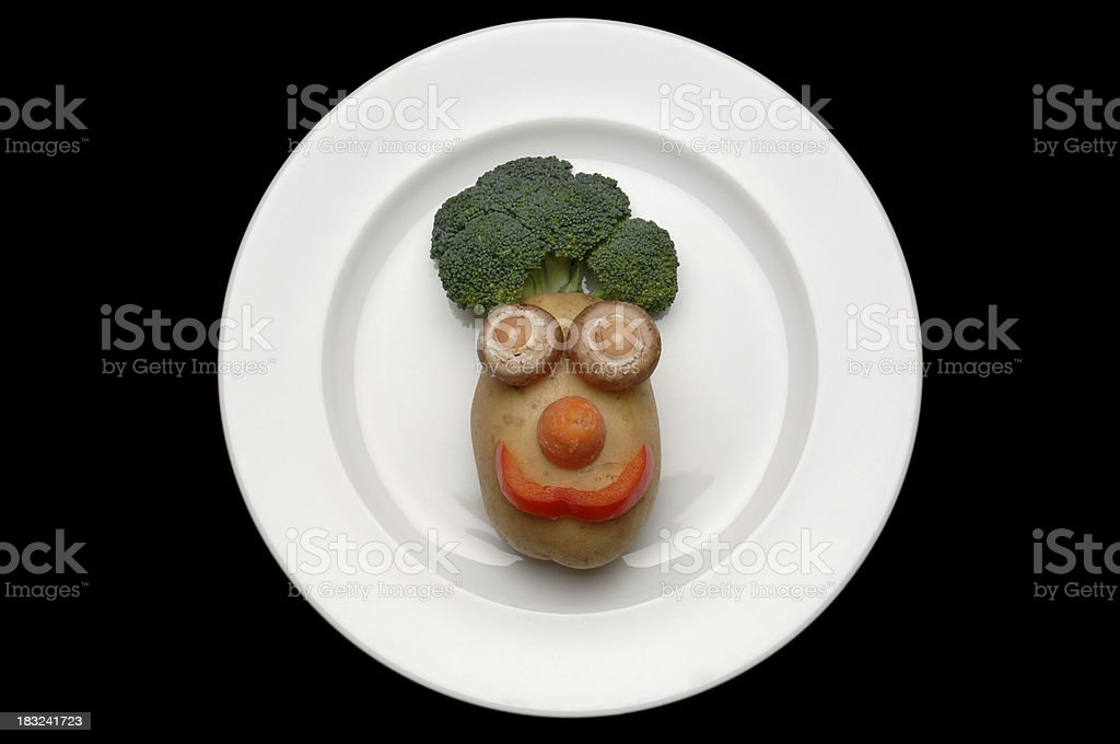food face on plate royalty-free stock photo