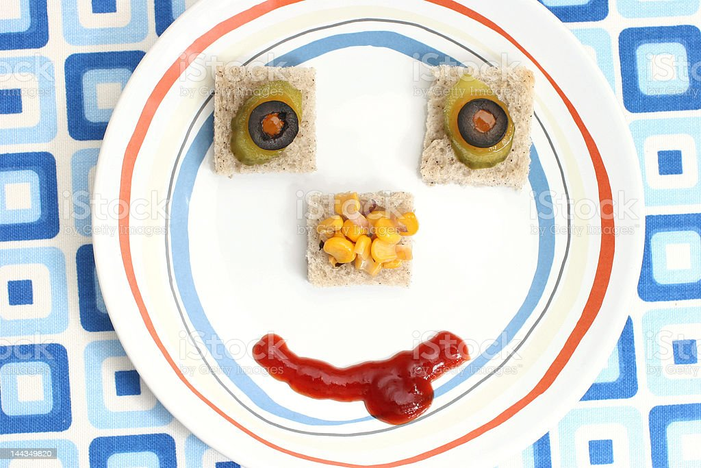 Food face royalty-free stock photo
