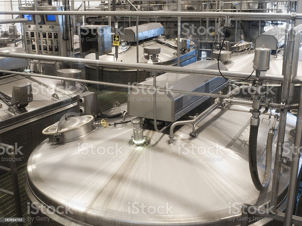 Food Factory Machinery royalty-free stock photo