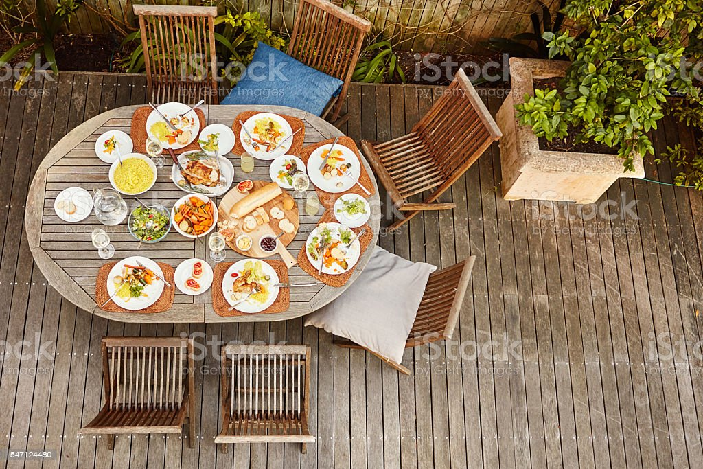 Food for an entire family stock photo