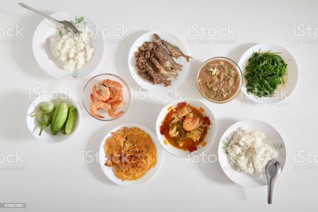 Food For Good Health With Thai Local Stock Photo - Download Image