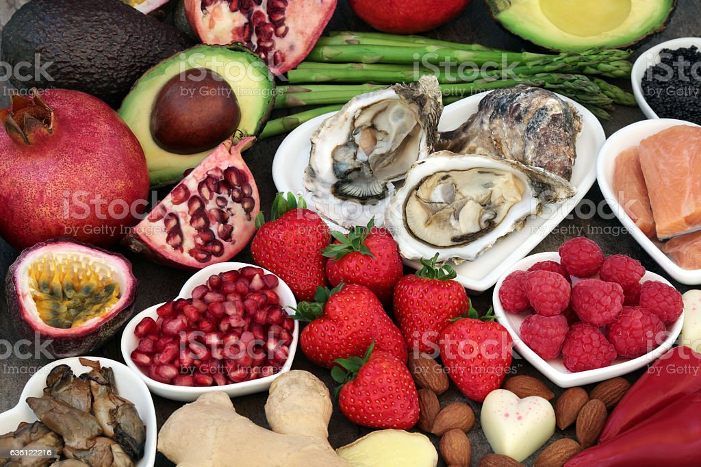 Food for Sexual Health stock photo