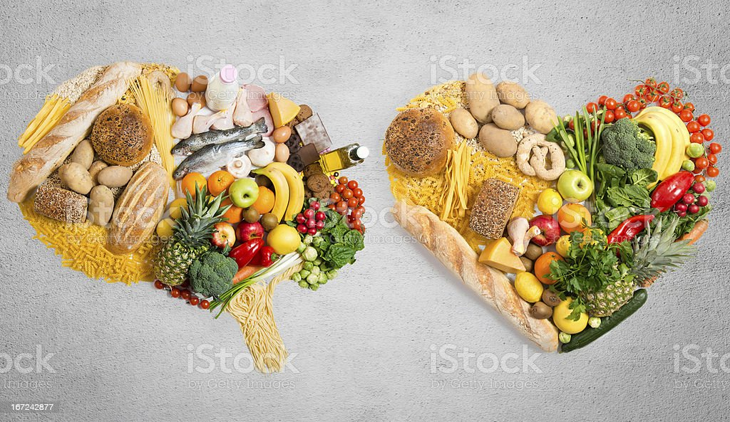 Food for thought and heart stock photo