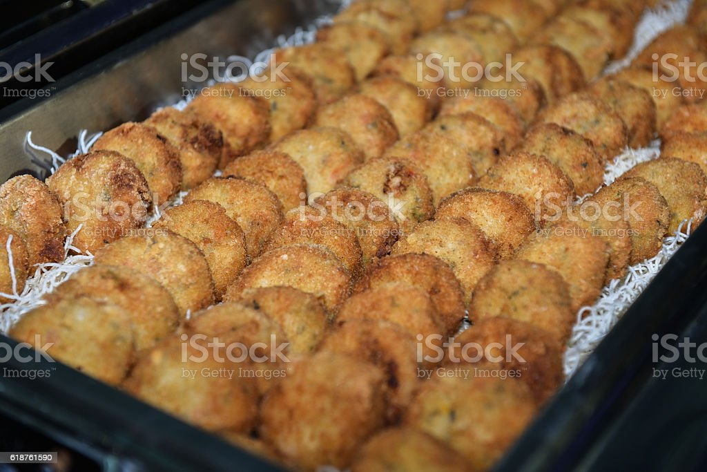 Food : Fried Chinese Pancake stock photo