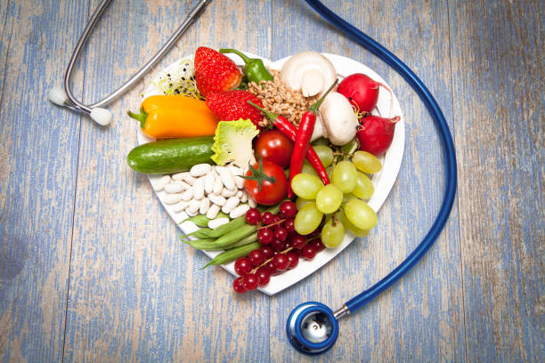 Food heart stock photo