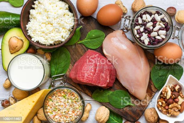Food high in protein healthy eating and diet concept picture id1090411462?b=1&k=6&m=1090411462&s=612x612&h=ocgskvkqorn2v8omkfq5qluhpp flc gobratmehfnk=