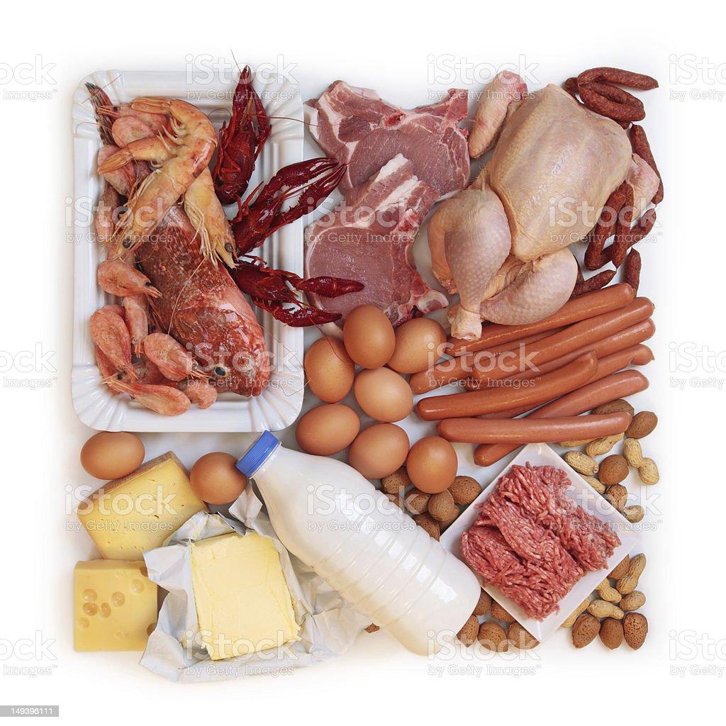 Alimentos en proteínas de alto - Foto de stock de Alimento libre de derechos