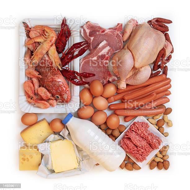 Alimentos En Proteínas De Alto Foto de stock y más banco de imágenes de Alimento