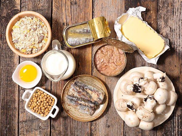 food high in vitamin D stock photo