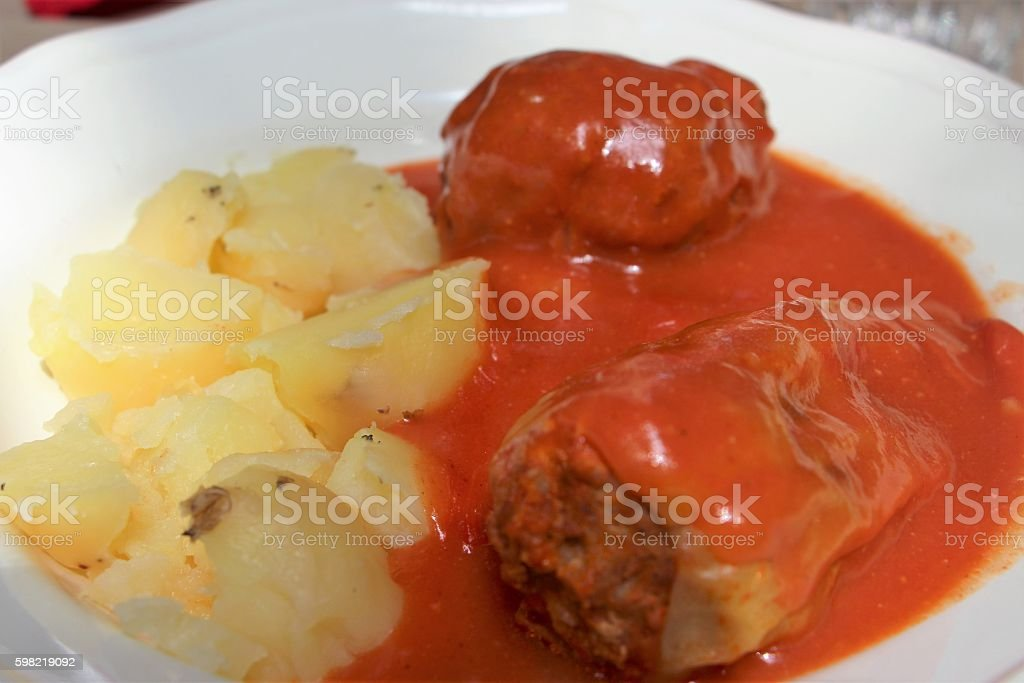 Food: Hungarian stuffed peppers foto royalty-free