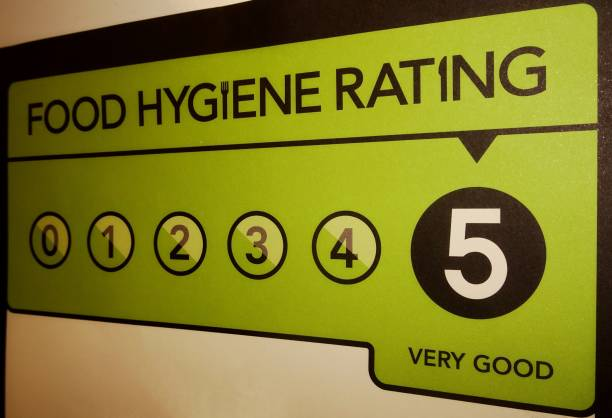 Food Hygiene Rating stock photo