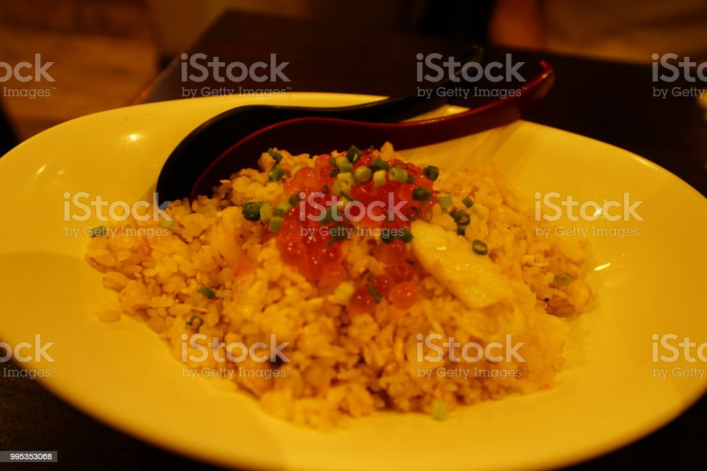 Food in a restaurant in Okinawa stock photo