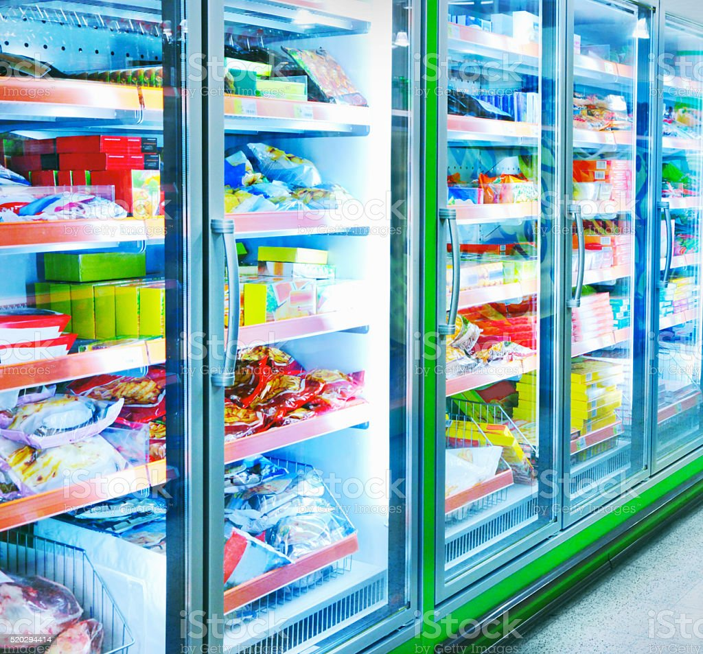 Food in a supermarket stock photo