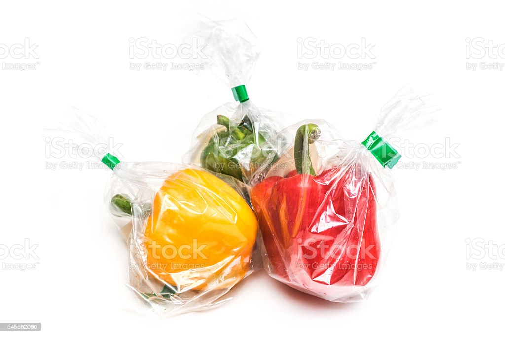 food in plastic container stock photo
