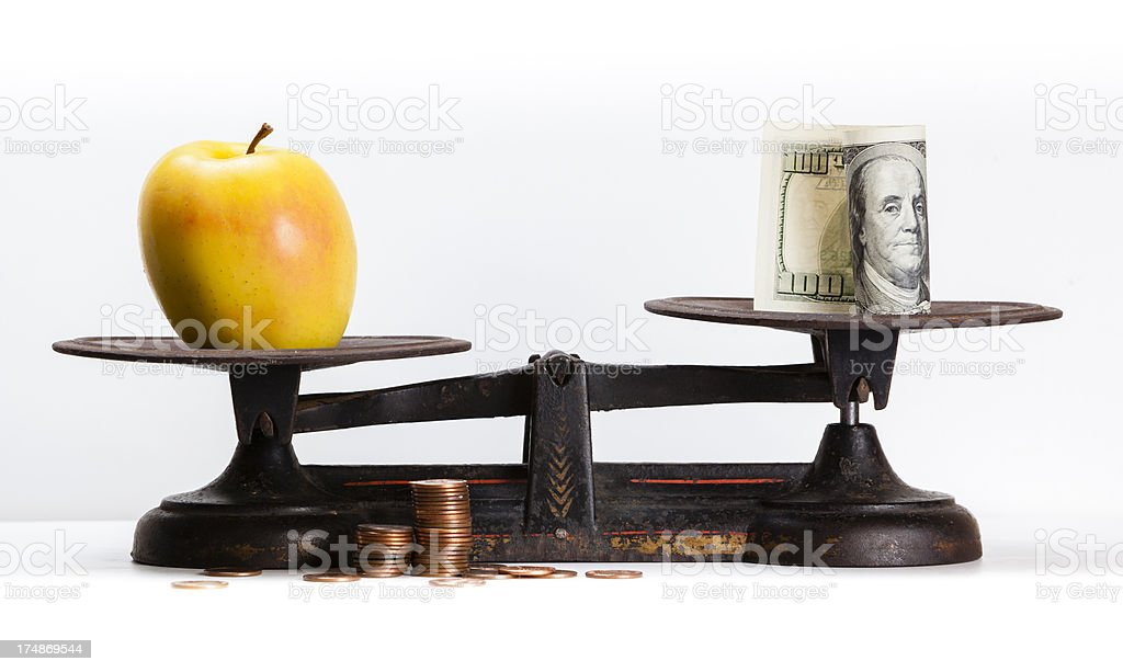 food is more valuable than money royalty-free stock photo