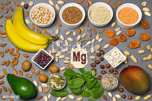 istock Food is source of magnesium (Mg) 902459130