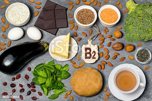istock Food is source of vitamin B2 902449854