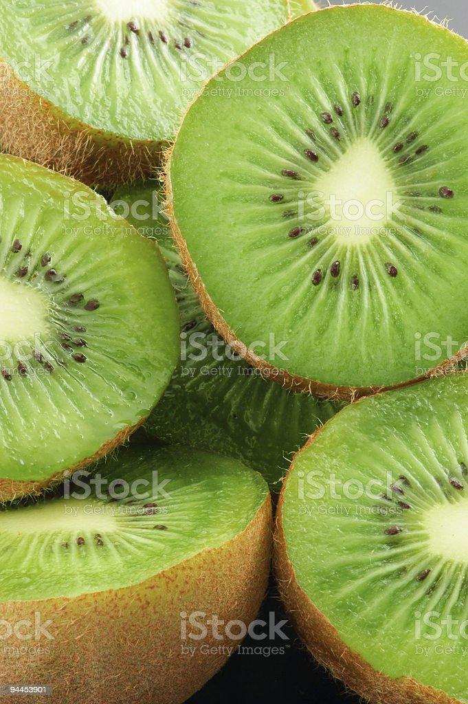 Food Kiwi Fruit slices royalty-free stock photo