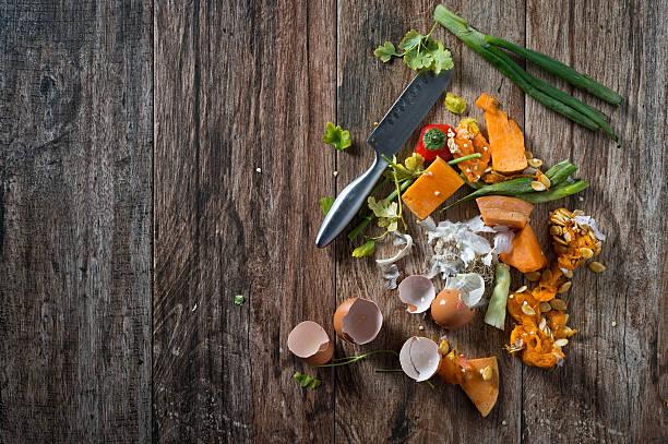 food leftovers - food waste bildbanksfoton och bilder