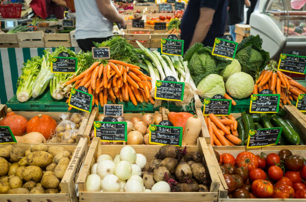Food Market Antibes France stock photo