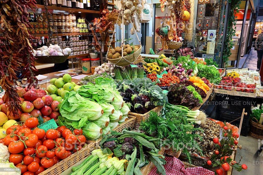 Food market in Italy stock photo