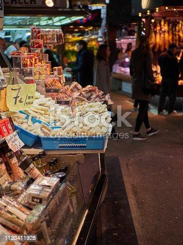 Busy Spanish food market