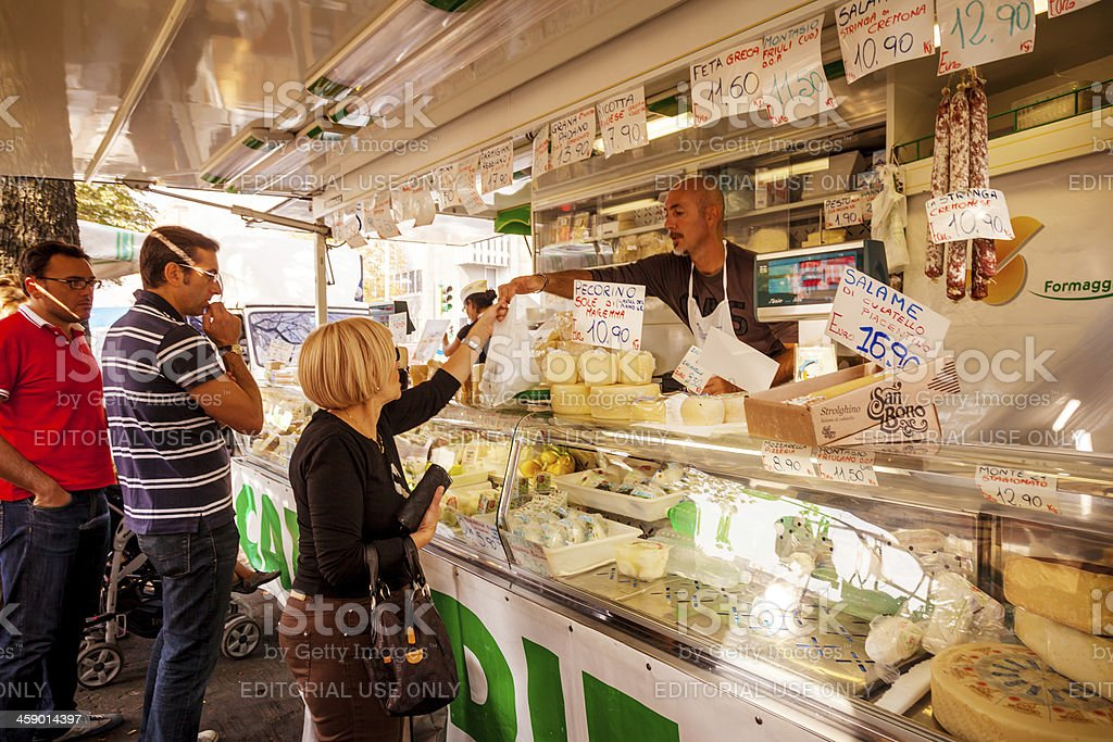 Food Market with cheese royalty-free stock photo