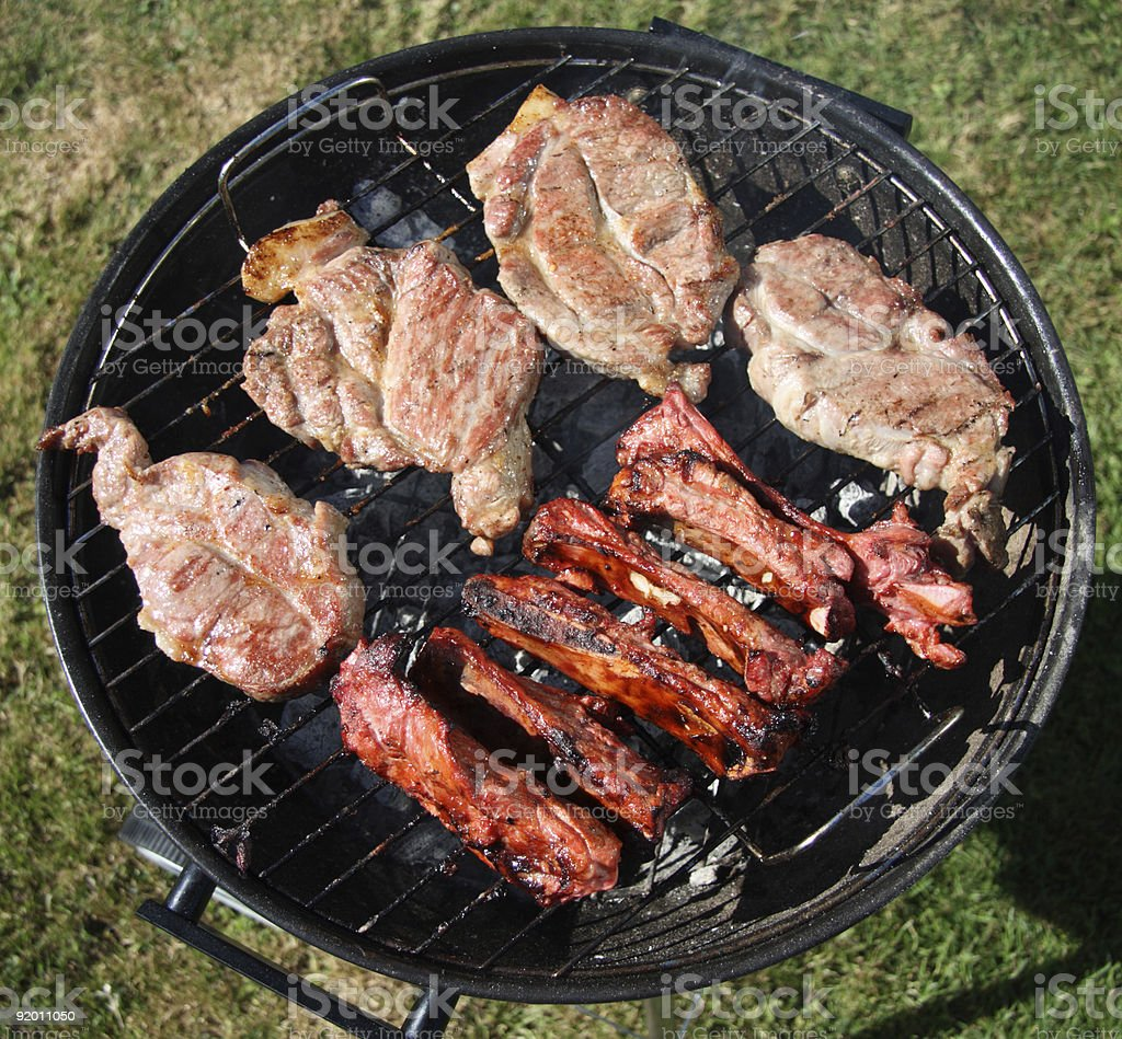 food meat  pork chops and chinese style lamb ribs royalty-free stock photo