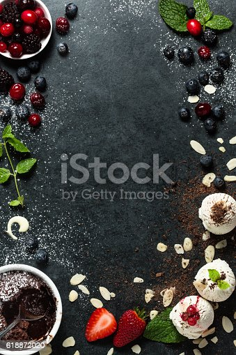 Food background with  copy space