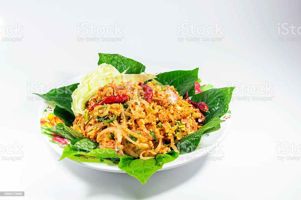 Food menu Yumsour pork royalty-free stock photo